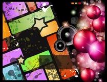 deltagare för musik för reklamblad för juldiskohändelse stock illustrationer