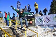 Deltagare i snowboarding Royaltyfria Foton