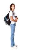 Deltagare med en lärobok och en satchel2 Arkivfoton
