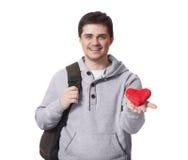 Deltagare med toyhjärta. fotografering för bildbyråer