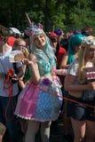 Deltagare på den Karneval deren Kulturen Arkivfoto