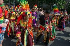 Deltagare på den Karneval deren Kulturen Royaltyfri Bild