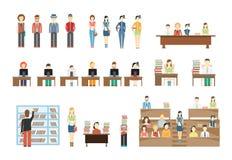 Deltagare på universitetar royaltyfri illustrationer