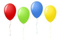 Deltagareballonger stock illustrationer