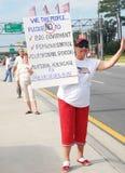 deltagareperson som protesterartea Royaltyfria Bilder
