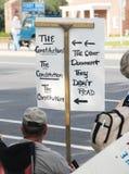 deltagareperson som protesterartea Royaltyfri Fotografi
