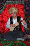 DeltagareSabantuy Tatar nationell dräkt royaltyfri bild