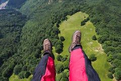 Deltaplaning in Roemenië Stock Foto's