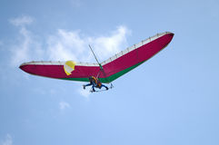 Deltaplano do vôo de deslizamento Foto de Stock Royalty Free