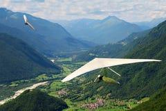Deltaplano in Slovenia Immagine Stock