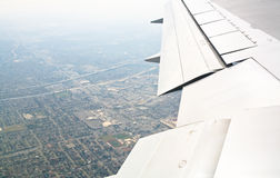 Deltavliegtuig die LOS weggaan Stock Foto