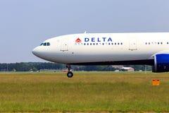 Delty Aerobus A330 frontowa sekcja zdjęcie royalty free