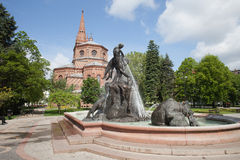 The Deluge Fountain in in Bydgoszcz Royalty Free Stock Photos