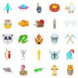 Delusion icons set, cartoon style. Delusion icons set. Cartoon set of 25 delusion vector icons for web isolated on white background Stock Images