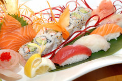Delux sushi plate Royalty Free Stock Photos