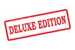 Deluxe Ausgaben-Rot-Stempel stock abbildung