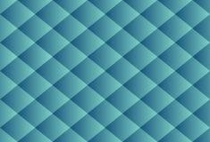 Deluxe Beschaffenheit des blauen Baumwollstoffzusammenfassungsluxusmusters quadriert seamles stock abbildung