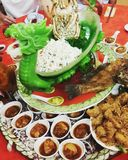 Deluxe Chinese Dish platter Royalty Free Stock Images