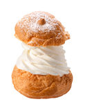 Deluxe Cream Puff isolated Royalty Free Stock Photo