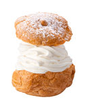 Deluxe Cream Puff isolated Stock Photos