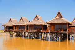 Deluxe hotel on Inle Lake, Myanmar Stock Photos