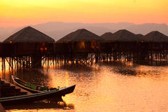 Deluxe hotel on Inle Lake, Myanmar royalty free stock photography