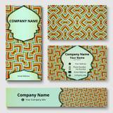 Deluxe Markendesignausrüstung mit buntem dekorativem Muster Erstklassige Unternehmensidentitä5sschablone Geschäftsbriefpapiermode vektor abbildung