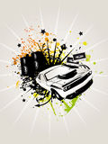 Deluxe Music. Car Splatter Illustration Stock Images