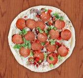 Deluxe Pizza - eingefroren Stockfoto