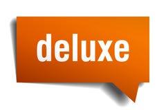 Deluxe Spracheblase der Orange 3d vektor abbildung