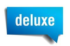 Deluxe Spracheblase des Blaus 3d lizenzfreie abbildung