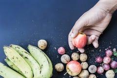 Deluxer Lebensmittelhintergrund Verschiedene Früchte der Lebensmittelphotographie exemplar Lizenzfreie Stockfotos