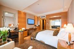 Deluxes Einzelzimmer im Hotel Stockbild