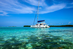 Delve into Paradise, Los Roques National Park. Los Roques archipelago is a federal dependency of Venezuela consisting of approximately 350 islands, cays, and Royalty Free Stock Image