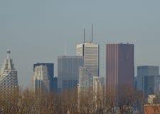 Delvist en sikt av i stadens centrum Toronto royaltyfri foto
