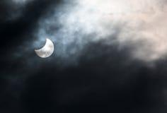 delvist sol- för förmörkelse Fotografering för Bildbyråer