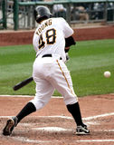Delwyn Young of the Pittsburgh Pirates. Swings at a pitch against the Cincinnati Reds Royalty Free Stock Photo