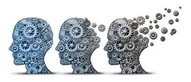 Demência Brain Disease de Alzheimer ilustração royalty free