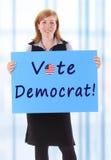Demócrata del voto imágenes de archivo libres de regalías