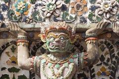 Demónio de Wat Arun fotografia de stock