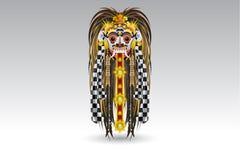 Demónio tradicional MaskAn Illustra de Bali do escape de Rangda Foto de Stock