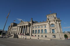 Dem deutschen volke. The seat of Germanys government, the Reichstag royalty free stock images