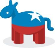 Dem donkey. A Democrat donkey icon with star Royalty Free Stock Photo