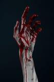 Demônio ensanguentado do zombi da mão Imagem de Stock Royalty Free