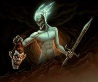 Demônio na batalha Fotos de Stock Royalty Free