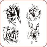 Demônios - grupo do vetor. ilustração royalty free
