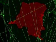 DEM-Rep van de Kongo op groene kaart royalty-vrije stock afbeeldingen
