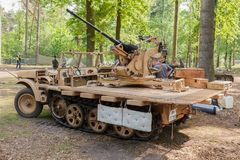 Demag Sd.Kfz. 10 with flak 38 at Militracks event Royalty Free Stock Photography