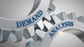 Demand analysis concept. Demand analysis written on gear wheel vector illustration