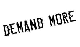 Demand More rubber stamp Stock Images